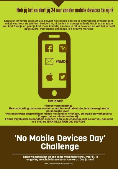 #NMDDzondersmartphone